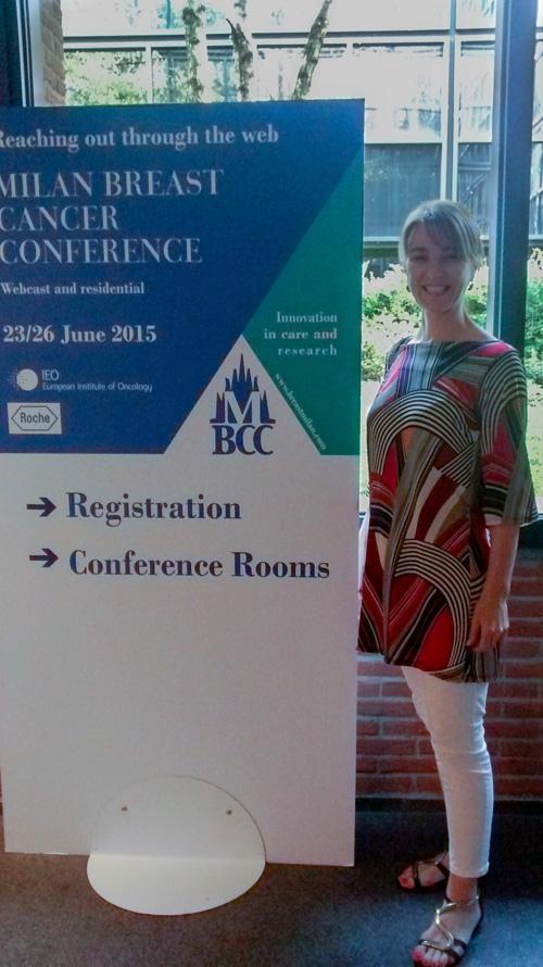 dr. Ilona Sušac na konferenciji o raku dojke - Milano 2015.