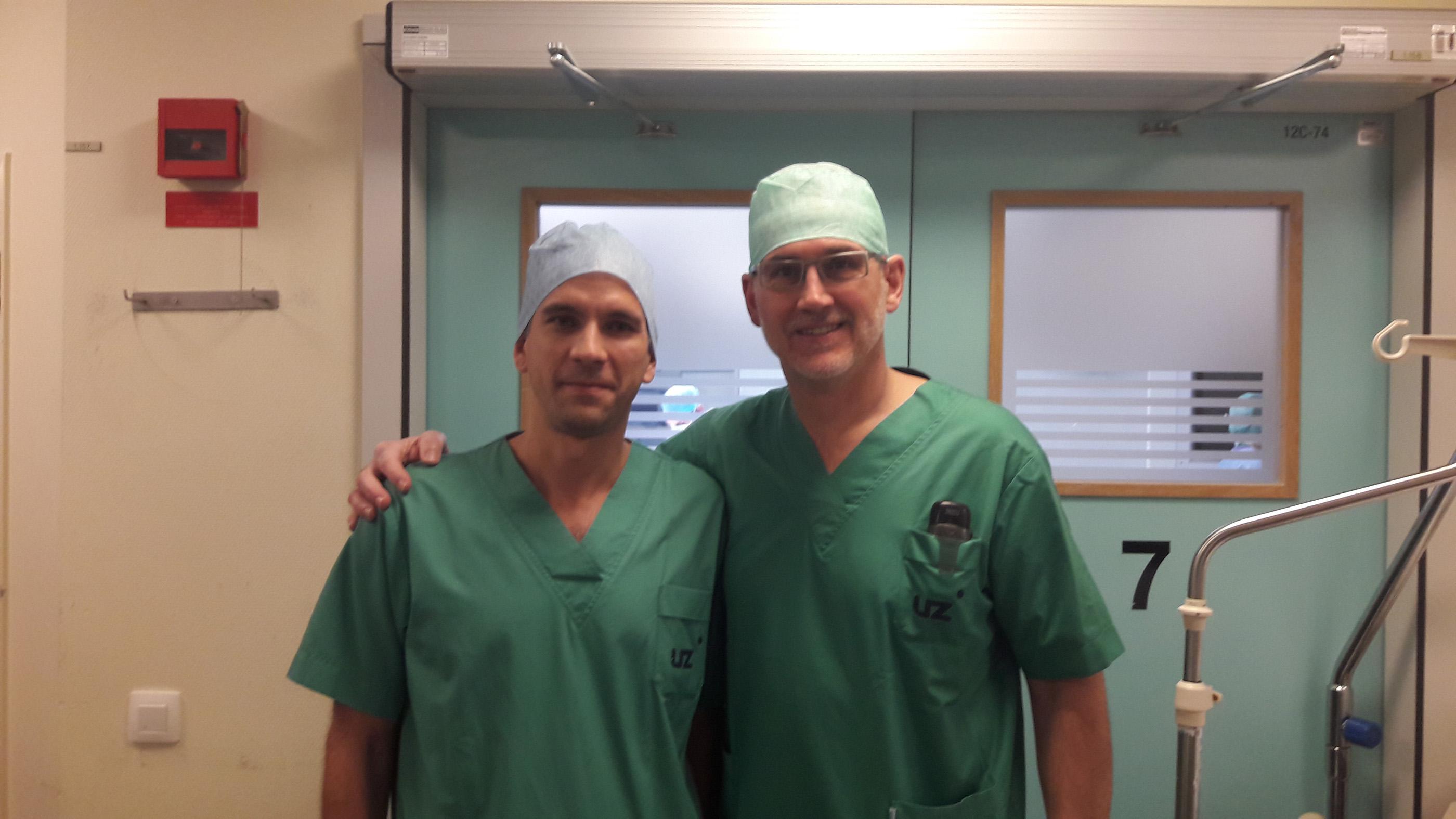 doc. dr. sc. Domagoj Eljuga, dr. med. - stručno usavršavanje u  UZ Gent, Belgija