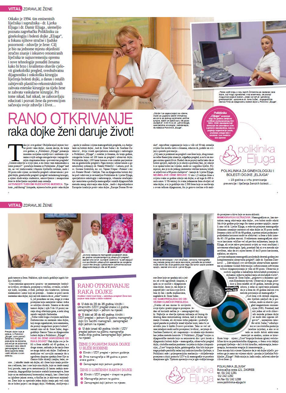 Vital - Rano otkrivanje raka dojke